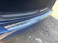 Volkswagen Touran 2003-2010 гг. Накладка на задний бампер Carmos (нерж)