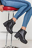 Женские ботинки Ботильоны с бахромой сбоку натуральная замша , натуральная кожа, фото 4