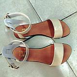 Женские Модные босоножки на плоской подошве из натуральной кожи , фото 2
