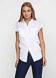 Женская блуза белая без рукавов с карманами, фото 2