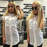 Женская блуза белая без рукавов с карманами, фото 4