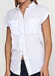 Женская блуза белая без рукавов с карманами, фото 5