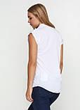 Женская блуза белая без рукавов с карманами, фото 6