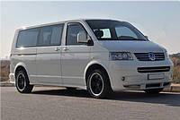 Volkswagen T5 Multivan 2003-2010 гг. Полная окантовка стекол (14 шт, нерж) 1 боковая дверь, Короткая база
