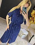 Женское платье рубашка миди с пуговицами в горошек, фото 8