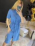 Женское платье рубашка миди с пуговицами в горошек, фото 10