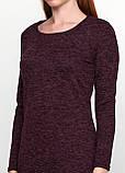 Женское теплое длинное платье миди ангоровое с разрезом баклажан, фото 6