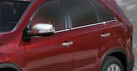 Kia Sorento XM 2009-2014 рр. Окантовка вікон (6 шт, нерж) OmsaLine - Італійська нержавійка