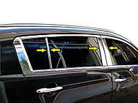 Kia Sportage 2010-2015 рр. Молдинг дверних стійок (6 шт, нерж.)