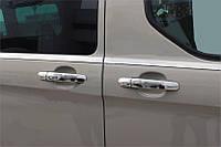 Ford Transit 2014↗ гг. Накладки на ручки (нерж) 4 ручки