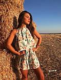 Женский Комбинезон летний в цветочный принт с воланом и открытой спиной, фото 5