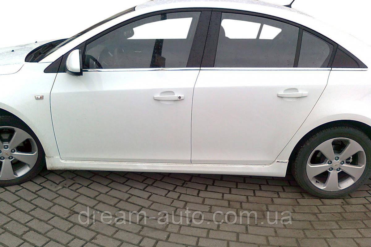 Chevrolet Cruze 2009↗ рр. Тюнінгові пороги SD (Meliset, під фарбування)