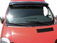 Renault Trafic 2001-2015 гг. Козырек на лобовое стекло (черный глянец, 5мм), фото 1