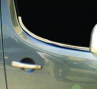 Peugeot Partner Tepee 2008-2018 гг. Окантовка стекол (2 шт, нерж)