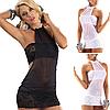 Эротическое белье. Сексуальный комплект. Пеньюар. Платье. Боди Нижнее белье (42 размер размер S) черный