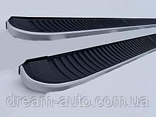 Porsche Cayenne 2003-2010 гг. Боковые пороги Tayga (2 шт., алюминий)
