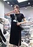 Женское платье оверсайз с разрезом накатка, фото 2