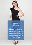 Сексуальное женское платье  на одно плечо футляр черного цвета, фото 3