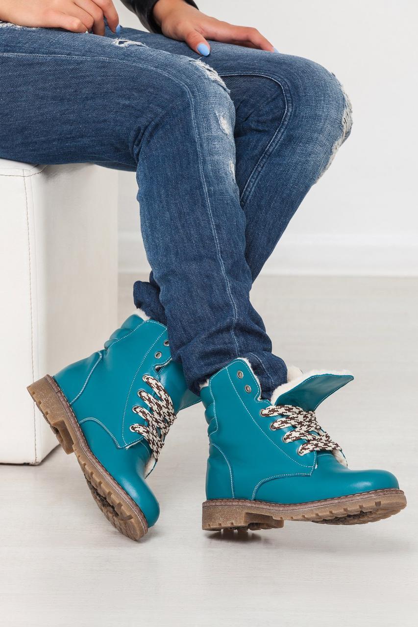 Модные женские ботинки KOMFORT натуральная кожа тимберленды