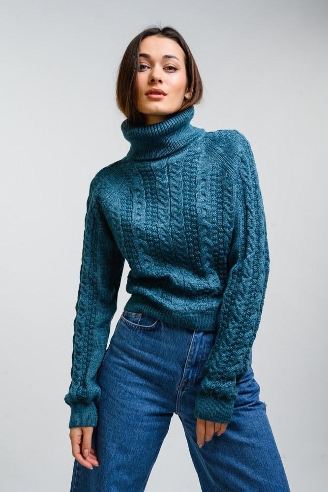 Женская вязаный свитер