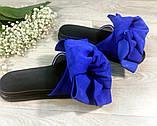 Женские шлепанцы из натуральной кожи с бантами из натуральной замши, фото 8