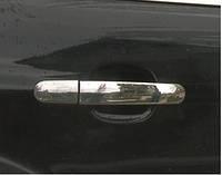 Ford Kuga 2008-2013 гг. Накладки на ручки (4 шт., нерж.) Без чипа, OmsaLine - Итальянская нержавейка