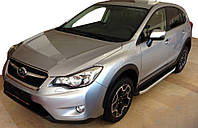 Subaru Forester 2013-2018 гг. Боковые пороги Fullmond (2 шт, алюм)