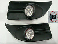 Fiat Doblo III nuovo 2010↗ и 2015↗ гг. Противотуманки LED (2010-2014, диодные)