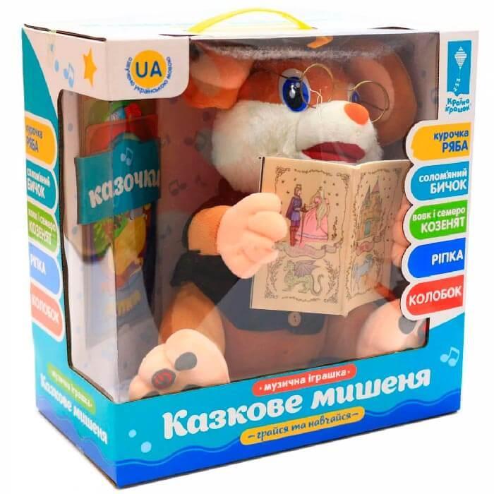 Интерактивная говорящая игрушка  Мышонок-сказочник (5 сказок на укр. языке) Дитяча  іграшка Казкове мишеня