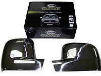 Volkswagen T5 Transporter 2003-2010 гг. Накладки на зеркала (2 шт) Carmos - Полированная нержавейка