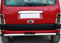 Peugeot Partner 1996-2008 гг. Накладка над номером (1 дв, нерж)