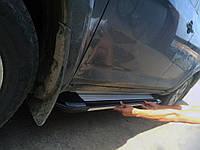 Toyota Rav 4 2001-2005 рр. Бічні пороги Rainbow (2 шт., алюміній)