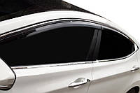 Hyundai Elantra 2011-2015 гг. Полная окантовка стекол (10 шт, нерж.)