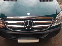 Mercedes Sprinter 2006-2018 гг. Обводка решетки (2006-2013, нерж) Carmos - Турецкая сталь, фото 1