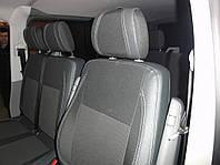 Volkswagen T5 рестайлинг 2010-2015 гг. Авточехлы (кожзам ткань, Premium) Передние (2-20201)