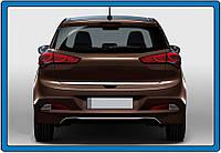 Hyundai I-20 2014-2018 рр .. Кромка багажника (нерж.)