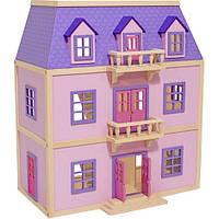 Многоэтажный домик для кукол с балконами Melissa & Doug