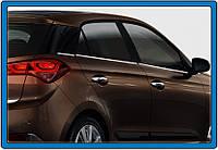 Hyundai I-20 2014-2018 гг. Нижние молдинги стекол (6 шт., нерж)
