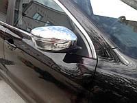 Nissan X-trail T32 /Rogue 2014↗ гг. Накладки на зеркала Хром (2 шт, пласт.)