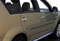 Mitsubishi Outlander 2001-2006 гг. Накладки на ручки (4 шт, нерж) Carmos - Турецкая сталь