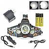 Налобный фонарь Police Bailong RJ 3000-T6 - мощный налобный фонарик на 3 диода, фото 3