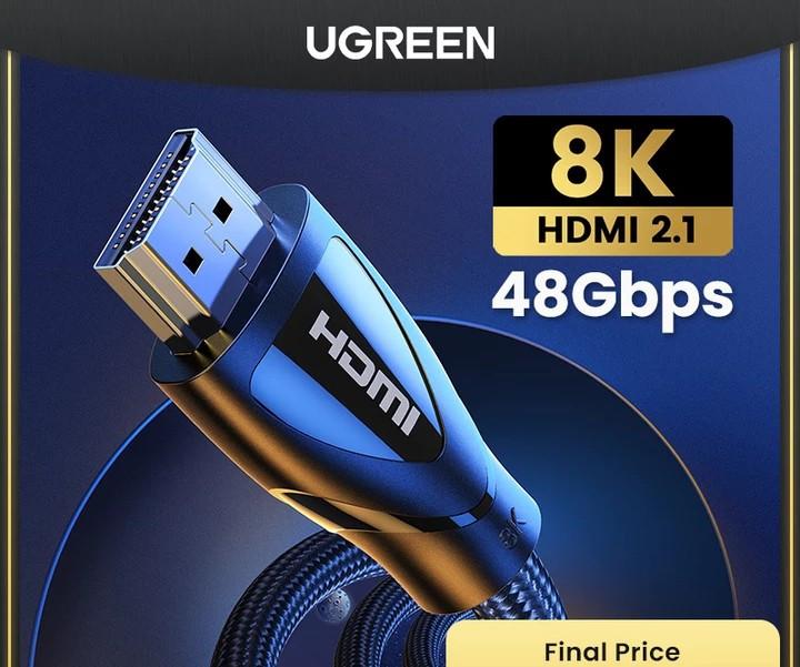 HDMI Ugreen 2.1, 8K 60Hz, 4K 120Hz, 48 Gbps/HDR10+