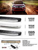 Toyota Hilux 2015↗ гг. Боковые пороги Blackline (2 шт., алюминий)