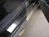 Mitsubishi Outlander 2006-2012 гг. Накладки на пороги Натанико (4 шт, нерж.) Стандарт - лента Lohmann, 0.5мм
