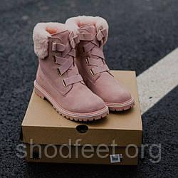 Ugg ботинки розовые женские зимние
