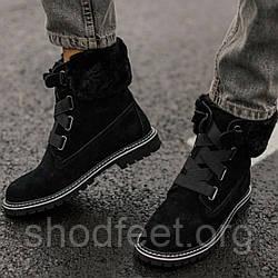 Ugg ботинки 36, 37р черные женские зимние