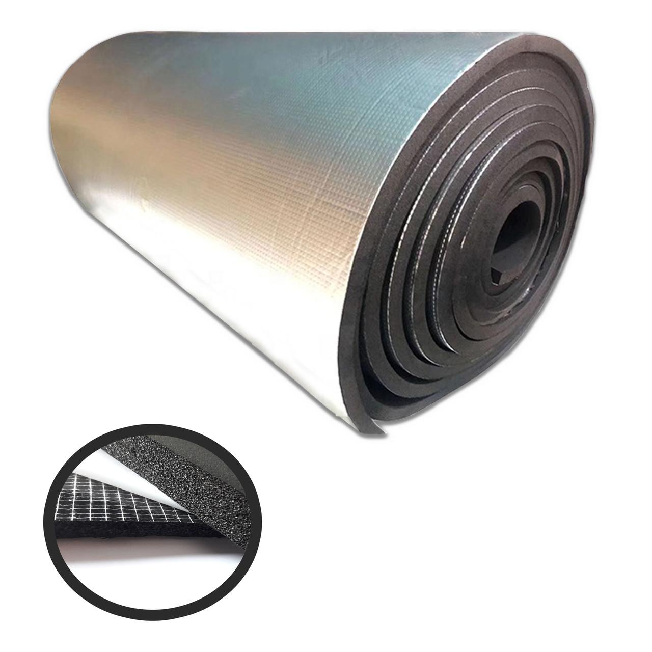 Вспененный каучук 9 мм самоклеющийся фольгированный (утеплитель, шумоизоляция)