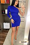 Модное женское платье на одно плече с украшением, фото 3