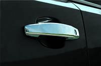 Opel Mokka 2012↗ гг. Накладки на ручки (4 шт) Carmos - Турецкая сталь