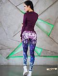 Женские фитнес лосины для спорта с модным принтом, фото 3